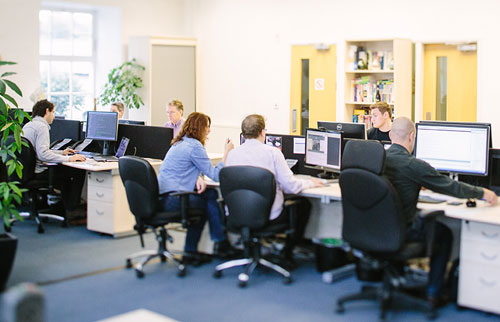 Meantime office and staff