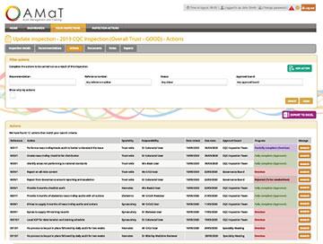 AMaT update inspections screenshot